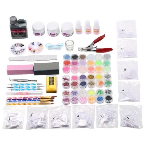 プロのネイル アート キット装飾 UV ゲル ツール ブラシ リムーバー マニキュアのヒント接着剤アクリル キット DIY セット