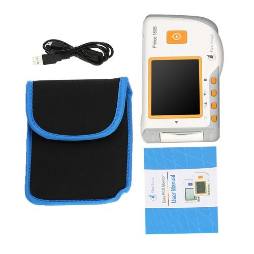 Prinz 180B heilen Kraft Einfache EKG-Monitor Professional EKG-Überwachung Maschine leicht tragbaren Handheld-LCD-Herz Health Monitor USB Dauermessfunktion