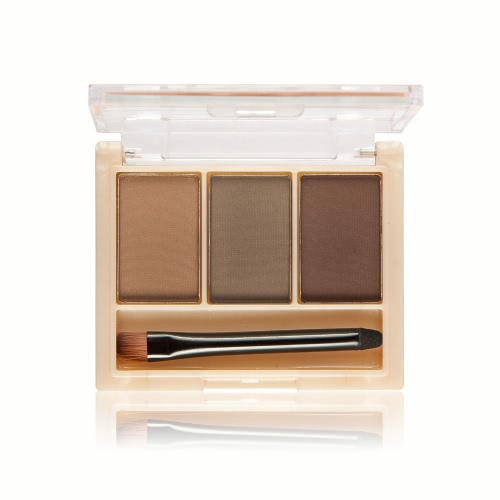 MELOISION Eyebrow Powder Eyebrow Palette Eyebrow Kit Eyebrow Makeup Cosmetic Kit with Built-in Mirror & Brush 3 Colors for Selection 1#