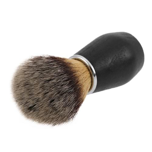 Men's Nylon Mustache Shaving Cleaning Brush With Wood Handle