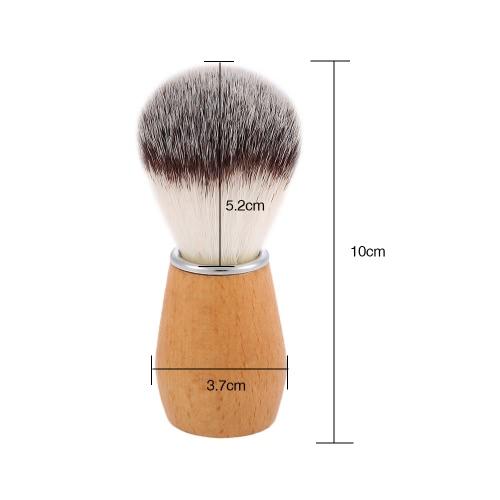 Nylon Shaving Brush Wood Handle Barber Salon Tool Men Shaving Brush for Shaving Razor Male Facial Cleaning Shaving Brush