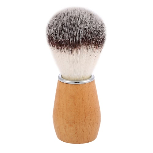 Nylon Shaving Brush punho de madeira Barber Salon Ferramenta Men Shaving Brush para Raspar Razor Masculino de Limpeza Facial Shaving Brush