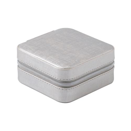 Neue Mini-Qualität PU-Fashion Jewelry Box Korb Ohrring Ohrstecker Halskette Ring-Uhr-Vitrine mit Spiegel für Geschenk-Reise tragbare Reißverschluss-Speicher-Organisator mit Spiegel