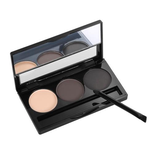 Focallure Augenbraue Pulver 3 Farben Brow Palette Frau Augenbraue Make-up Professionelle Kosmetik-Tool mit Pinsel & Spiegel 1 #