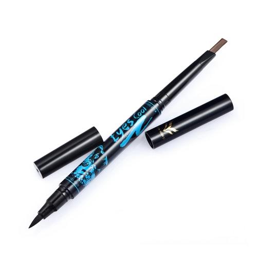Huamianli Двухсторонний карандаш для бровей и подводка для глаз Долговечный водонепроницаемый глазный вкладыш для бровей для бровей 5 Дополнительные цвета