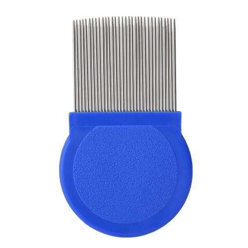 Piope de aço inoxidável Remover pente de agulha longa Pente de dentes finos Pele de animal de estimação Pele de galo Pele de remoção de pulgas