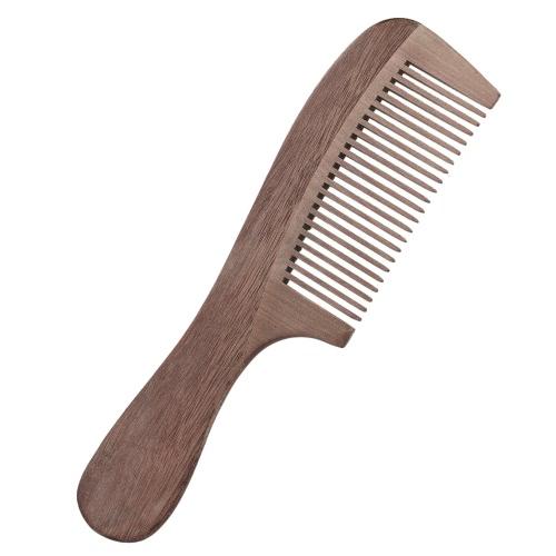 Massagem antiestática Pele de madeira Pêssego natural Madeira Dente largo Peito de madeira Cuidados com os cabelos Escova para cabelo
