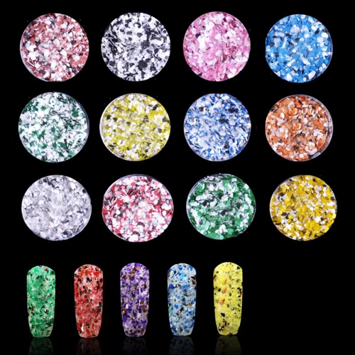 Chameleon Paillette Powder Irregular Nail Art Glitter Sequins Flakiness 12 cores
