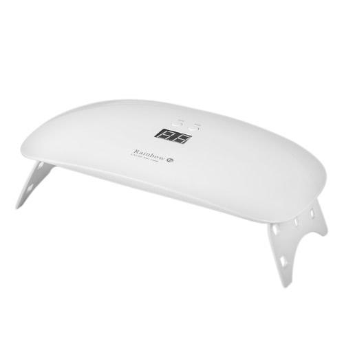 18W Ультрафиолетовая светодиодная отверждаемая лампа Портативный складной USB-кабель для Prime Gift Home 30s / 60s Установка таймера Гель для ногтей для сушилок для ногтей и ногтей для ног 305 + 405 нм Белый