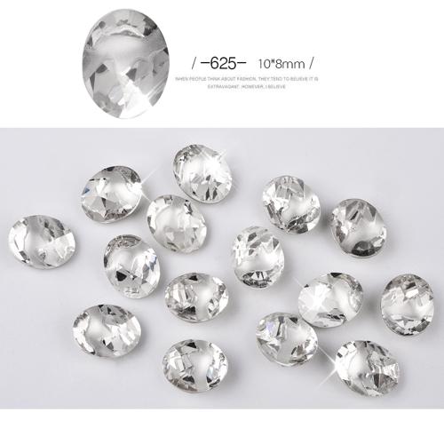 Новые 10шт Flame Decorator Manicures Rhinestone Блестящие алмазные кристальные украшения для искусства DIY Beauty Nail Tip Blitter Jewelry Accessories