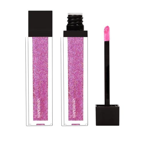 Handaiyan Wasserdicht Metallic Perlmutt Ohne Dämpfung Langlebig Flüssiges Gesicht Lippenstift Metalllippe Meta Lippenstift