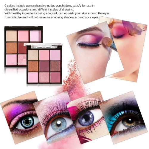 MARIA AYORA 9 Colors Eyeshadow Palette Matte Eyeshadow Set Women Cosmetic Neutral Warm Eye Shadow Palette Eye Makeup Palette