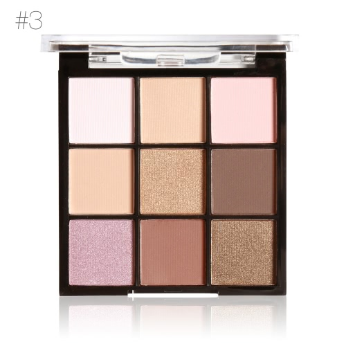 MARIA AYORA 9 Farben Lidschatten-Palette Matte Lidschatten Set Frauen Kosmetik Neutral Warme Lidschatten Palette Augen Make-up-Palette