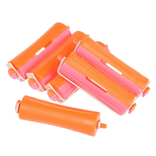 6 Pieces Salon Cold Wave Rods Hair Roller With Rubber Band Curling Curler Perms Hairdressing Styling Tool for Girls Women Hair DIY