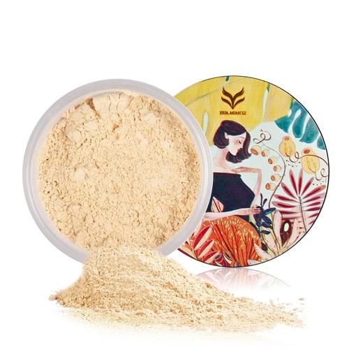 Huamianli Loose Powder Длительный финишный порошок Маслорастворимый порошок для лица с плавным гладким шелковым порошком