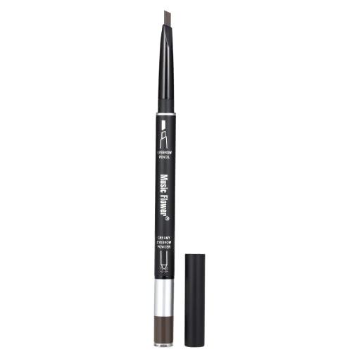 2 в 1 Двухстворчатый карандаш для бровей и бровей Подушка Водонепроницаемая долговечная брови Enhancer Pen