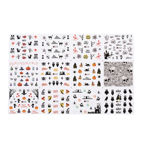 1 stück / 12 sätze Nagel Maniküre Decals Weihnachten Aufkleber Set Nail art DIY Tools