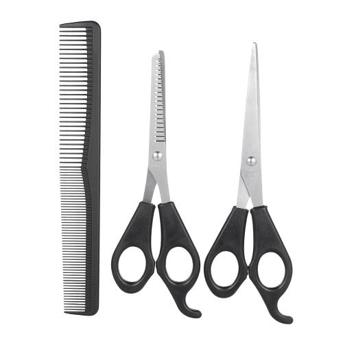 3 Teile / satz Haar Schneiden Effilierschere Set Haarschere Haar Kamm Set Professionelle Friseurschere Mit Haar Kamm