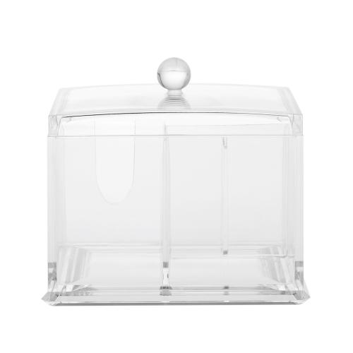 Acryl Wattestäbchen Organizer Box Lippenstift Kosmetik Lagerung Inhaber Make-Up Aufbewahrungsbox Tragbare Wattepads Container