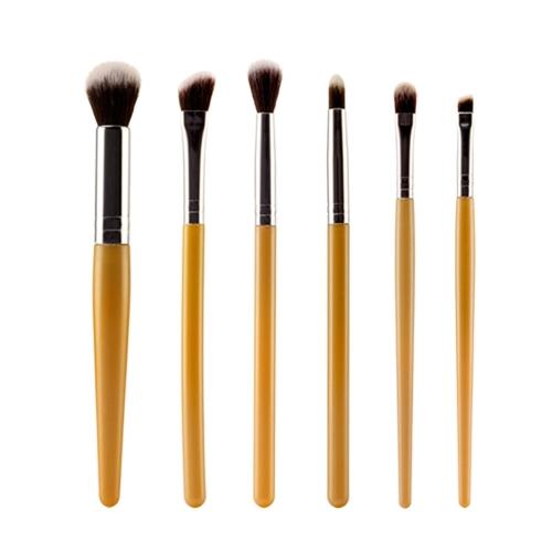 6Pcs Verfassungs-Kosmetik Bush Lidschatten Eyeliner Blending Schwamm Flachpinsel Set 9 Farben