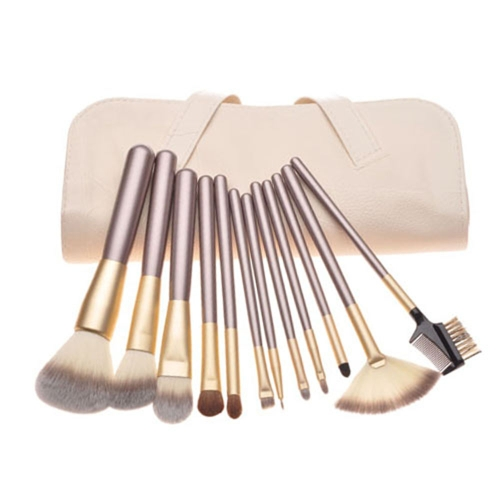 12 Stück professionelle Make-up Pinsel Kosmetik Tool Set Kits