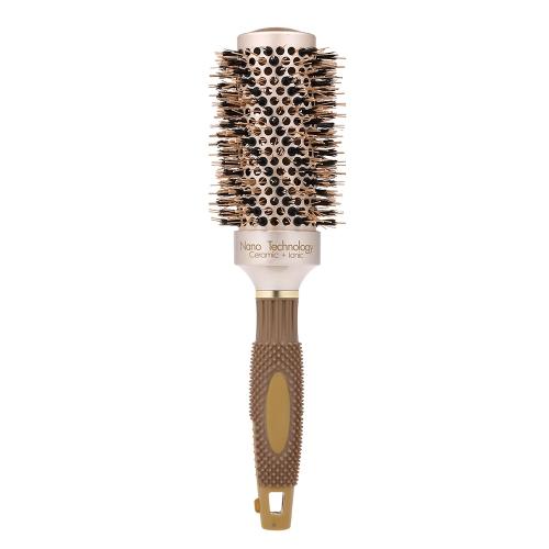 Professionelle Friseursalon Pinsel Keramik Ionic Hair Roller Pinsel Nano Thermal Haar Styling Rundkamm Hochtemperaturbeständig