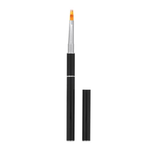Nylon-Haar-Nagel-Bürsten-Poly-Gel Doppelseitiger Nagel-Stift-flacher Schieber für Erbauer-UVnagel-Spitzen-Erweiterungs-Maniküre-Werkzeug