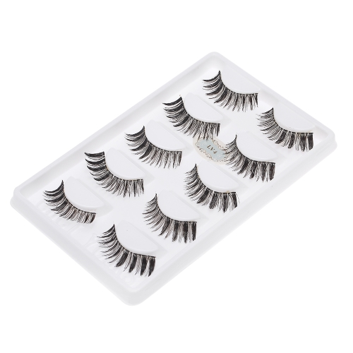 5 Pairs Natural False Eyelashes Long Thick Fake Lashes 3D Extension Eyelash Soft Handmade False Eyelash W5995-3