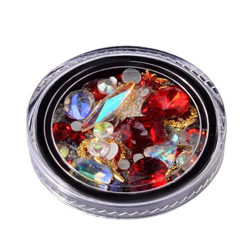 Decorazione di diamante di arte del chiodo tagliente in perline di cristallo singolo cristallo inferiore inferiore di diamante