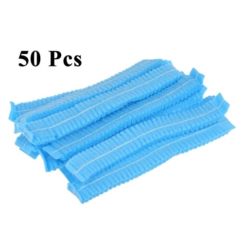 50Pcs Disposable Makeup Caps Elastic Hat for Eyelash Eyebrow Permanent Tattooing Microblading Accessories Random Color