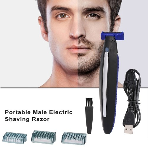 Electric Shaving Razor Rechargeable Beard Hair Cleaning Shaver