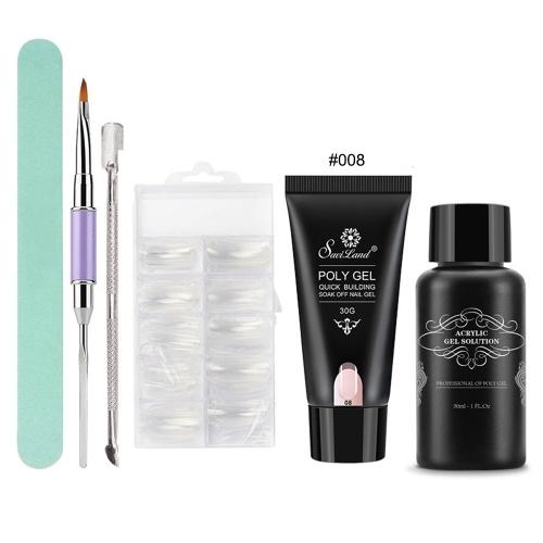 6Pcs / Set Poly Gel Nail Art Kit