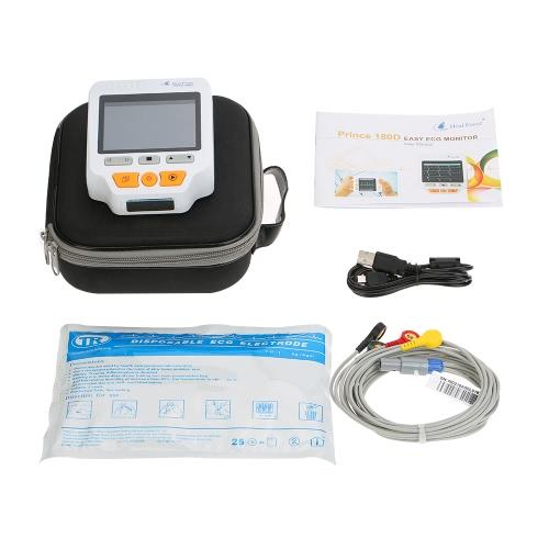 ヒールフォースプリンス180DポータブルECGモニタープロフェッショナルハンドヘルドLCDハートモニター心電図ECGモニタリングマシン