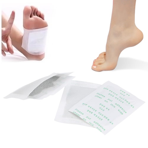 10 Pakete Detox Pads Fuß Fußflecken entgiften Gifte Füße mit Klebefolien Fuß Geruch Gesundheitswesen Instrument