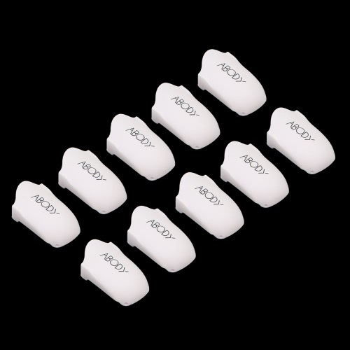 Abody 10pcs Reusable Nail Clip Plastic Nail Art Soaker Nail Resurrection Clip Nail Polish Soaker Caps Nail Cleaner Wrap Nail Painting Remover Nail Art Tool