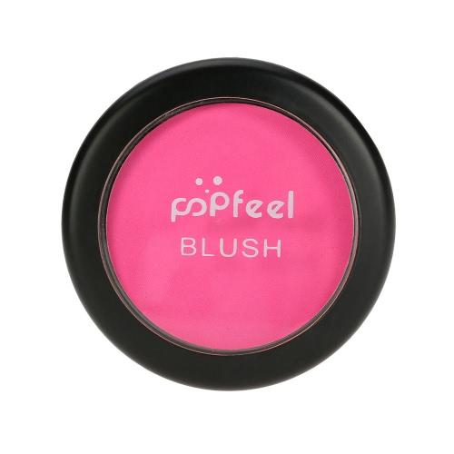 Popfeel Makeup Gesicht Blusher-Puder-Paletten-kosmetischen Blusher-Puder # 4 Make Up 6 Farben optional mit Spiegel Pinsel