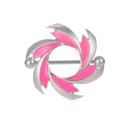 Joyería del acero inoxidable pezón anillo de la barra Barra atractiva Escudo de la perforación del cuerpo para hombres y mujeres
