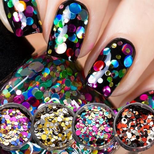 1 ногтя DIY ПК красоты Совет Крафт украшения Тонкие ногтей Блестки Paillette Блеск Косметика Мода Лак для ногтей наклейки