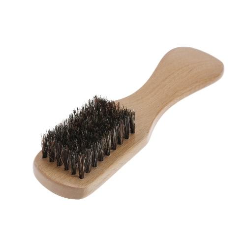 dos homens Beard escova javali cerdas Bigode Barbear Pente Escova Facial Handle escova de cabelo Beech Longo