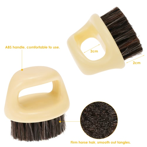 Men's Beard Brush Natural Horse Hair Mustache Shaving Brush ABS Handle Facial Hair Brush W4284