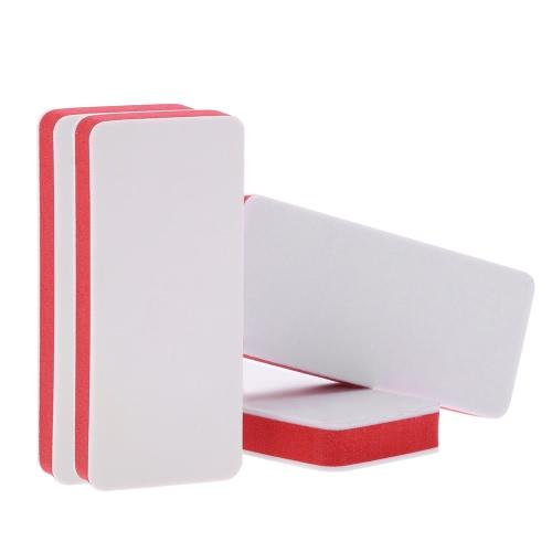 4Pcs EVA Schwamm Nail Buffer Filer Polierer Block-Nagel-Kunst-Schleifen Polieren polier Werkzeug Beidseitige Maniküre Geräte