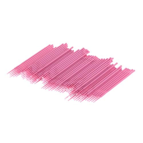入れ墨のメイクの除去のための100個の綿の綿棒綿の棒の耳使い捨てのプラスチック製のハンドル付き綿棒