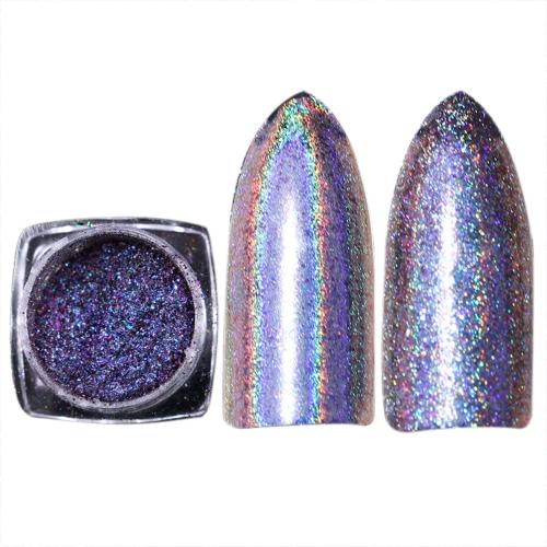 Shiny Rainbow Laser Magic Mirror Powder Nail Art Glitter Модные украшения для ногтей Женские ногти DIY