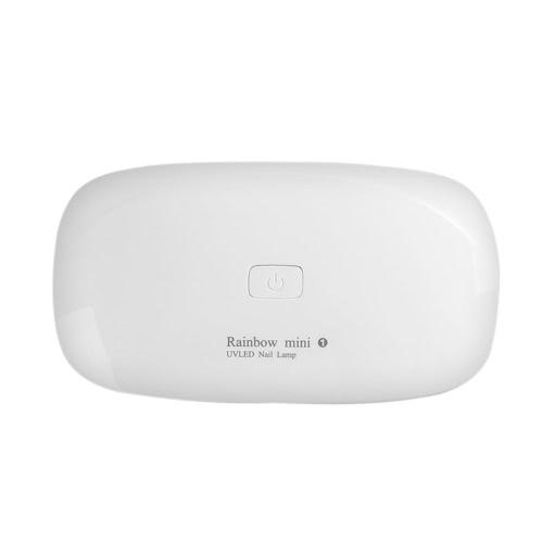 6W УФ-светодиодная отверждаемая лампа для ногтей с сушкой 45s / 60s Установка таймера для ногтей машины 365 + 405 нм Белый портативный складной USB-кабель для домашнего использования Prime Gift