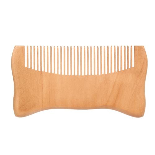 Wooden Hair Comb Man��s Beard Comb Anti-static Male Mini Facial Hair Beard Comb Wood Massage Comb