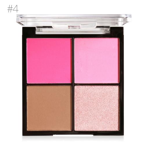 MARIA AYORA 4 Цветная румяна Pallete Face Makeup Powder Face Blusher Порошковая палитра Косметическая румяна