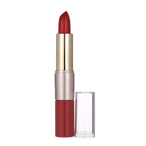 O.TWO. 2 in 1 Lippenstift Matte Lippenstift + Flüssigkeit Lipgross Wasserdichte Tönung Dame Langlebige Make-Up Schönheit Matte Lippenstift