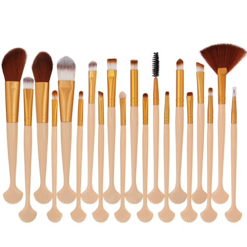 20 Stücke Make-Up Set Power Foundation Lidschatten Contour Concealer Kosmetik Shell Make-Up Pinsel Werkzeuge Kit