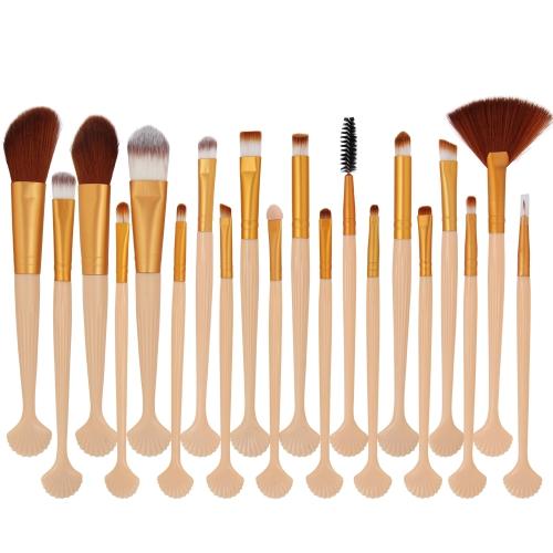 20шт. Набор для макияжа Power Foundation Eye Shadow Contour Concealer Косметический комплект для макияжа кистей