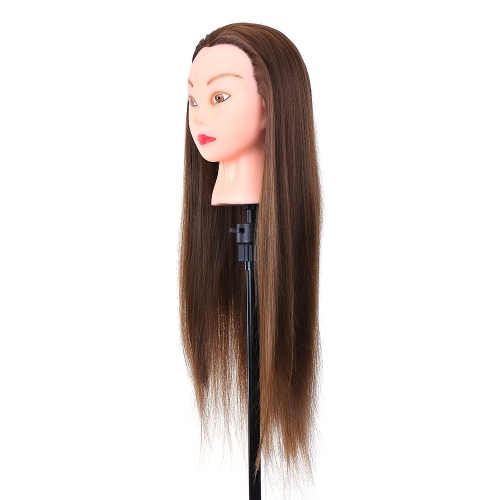 """24"""" Mannequin Head Hairdressing Training Head for Hair Styling Practice Dummy Head for Hair Braiding High Temperature Fiber Head Model"""